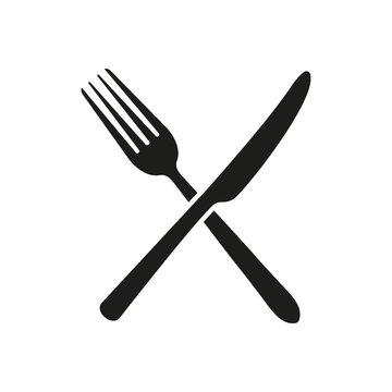 Knife, fork. Sign. Vector.