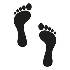 Human foot track. Vector.