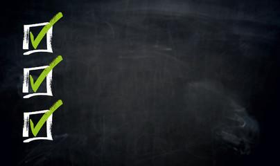 Checkliste mit Textfreiraum Tafel Vorlage