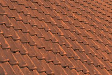 Rotes Dachziegelmuster