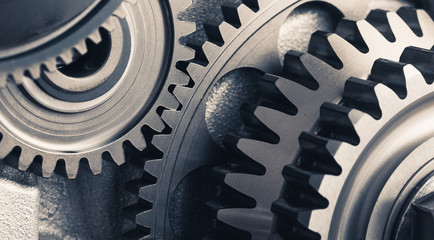 engine gear wheels, industrial background
