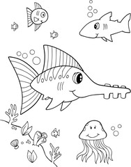 Cute Fish Vector Illustration Art