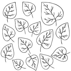 vector contour set of leaves