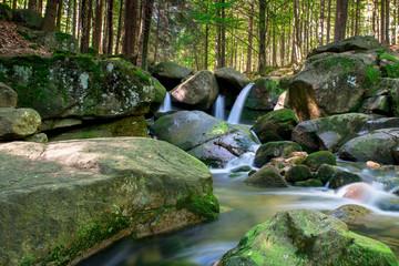 waterfall of river podgornej