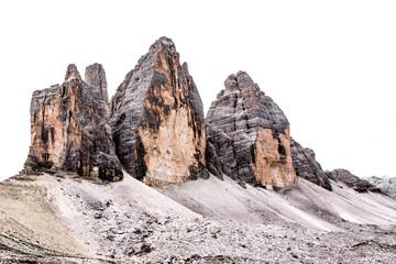 The three peaks of Lavaredo ( Italian: Tre Cime di Lavaredo) in the italian Dolomites