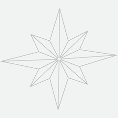 Vector image of eight-pointed star