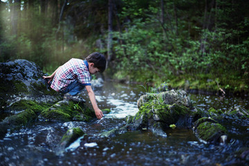 The boy by the stream