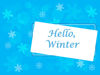Winter vector picture