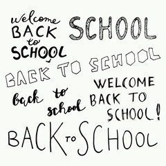 Welcome back to school calligraphy set.