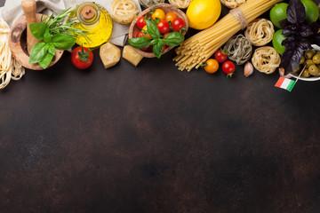 Italian food. Pasta ingredients