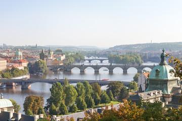 View onto Vltava; Prague