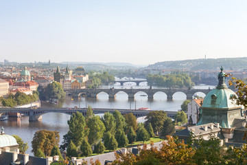 View onto Vltava; Prague, Czech Republic