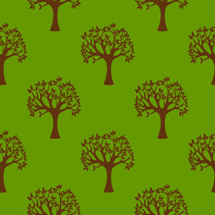 Abstract grunge tree nature environment seamless pattern background eco ecology natural vector leaf branch illustration.