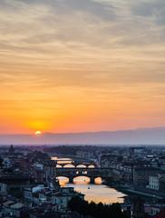 Arno River at Sunset