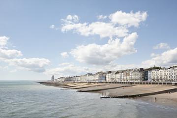 The coastline at Hastings, UK