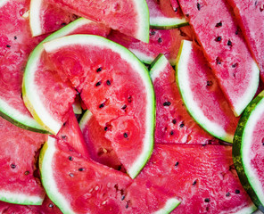 Watermelon slices in summer
