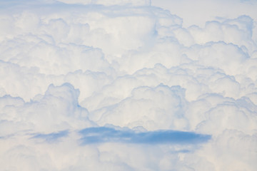 Dense fluffy clouds