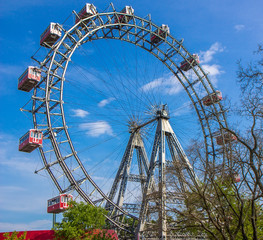 Ferris wheel in the Prater park in Vienna, Austria