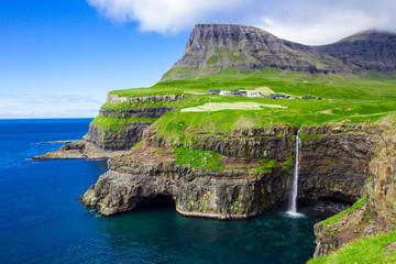 Mulafossur waterfall, Gasadalur Faroe