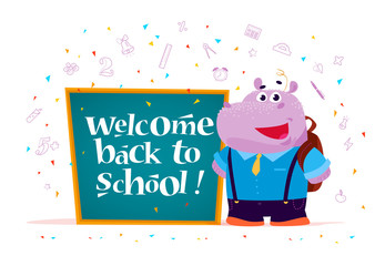 Vector back to school greeting