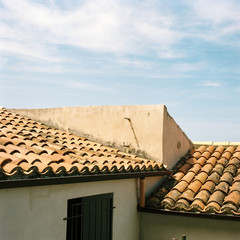 Sicilian rooftops on a bright Spring day