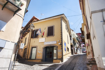Local police center in the village of Rocca di Papa - Italy
