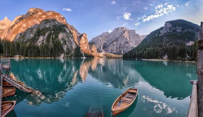 Overlooking Lake Prags, Italy