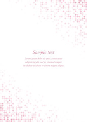 Pink page corner design template
