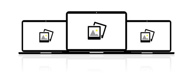 Laptop Banner - Bilder