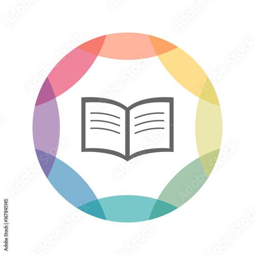 farbiges Icon - Buch - Magazin\