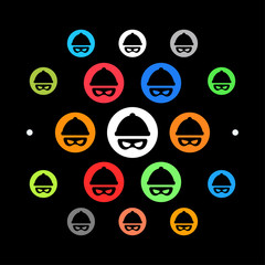 Modernes UI design - Verbrecher-Symbol