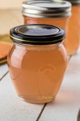 Homemade mesquite bean jelly.