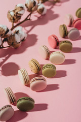 Macarons with cotton