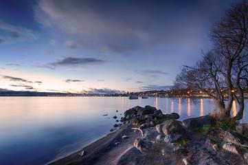 Lake Taupo At Dusk