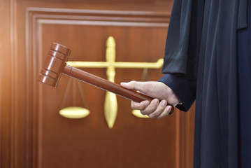 Courtroom lawyer Symbol of justice