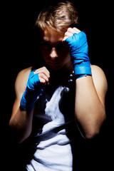The teenage boxer.