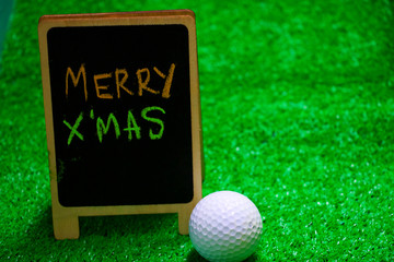 golf ball with X'mas sign