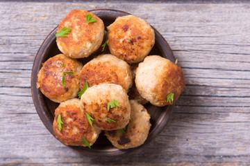 Pork meatballs with parsley