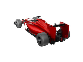 Generic red and black race car