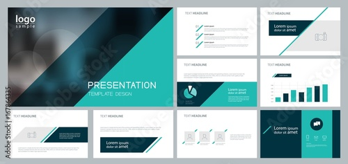 design template for business presentation and page layout for