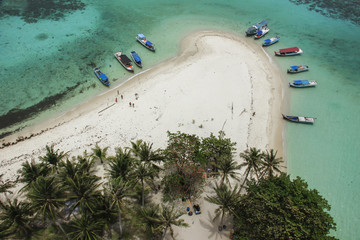 beautiful aerial view at lengkuas Island,Bangka,Indonesia