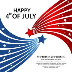 Happy Independence day USA 4 th July. illustration in vector format.