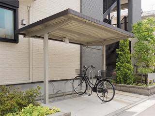 Fototapete - アパートの駐輪場