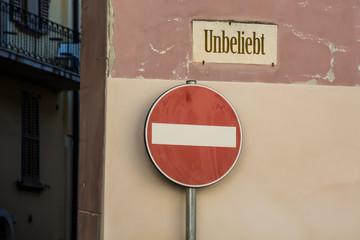 Schild 246 - Unbeliebt