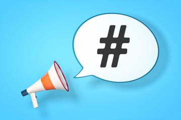 megaphone hashtag