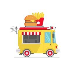 fast food truck icon vector illustration