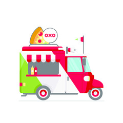 italian food truck icon vector illustration