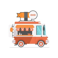 japanese food truck icon vector illustration