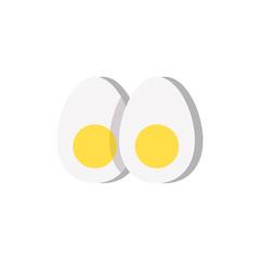 hard booiled egg icon vector illustration