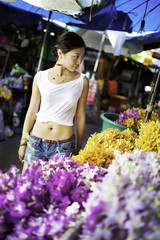 Flower Market Tourist